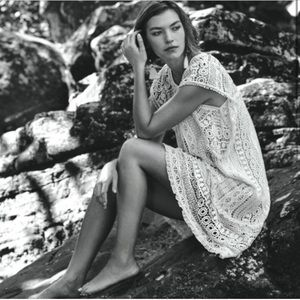 Anthropologie Maeve Crochet Tunic Dress